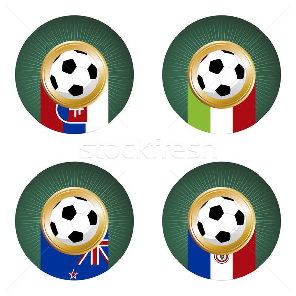 2010 wereld beker South Africa groep voetbal Stockfoto © cienpies