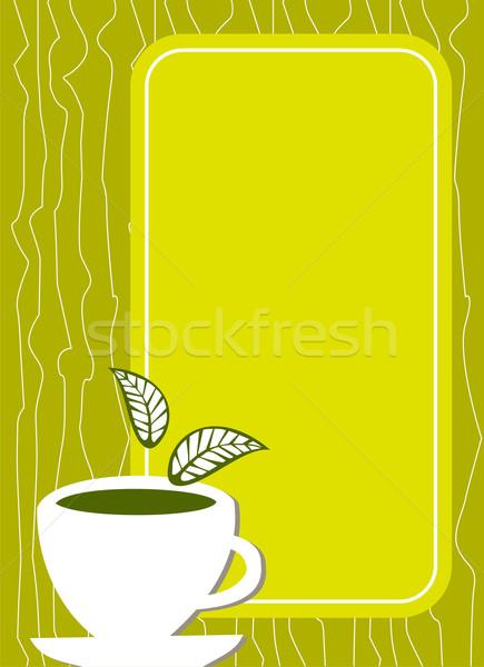 Citrom tea menü borító csésze levelek Stock fotó © cienpies