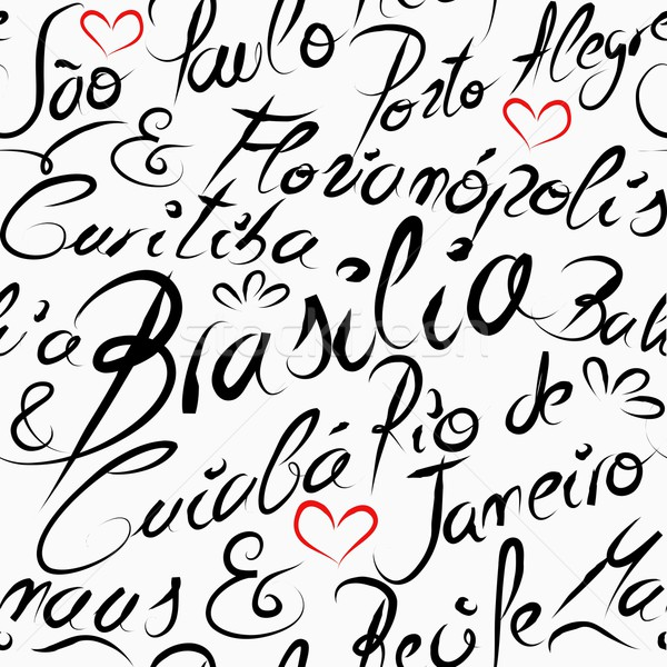 Utazás Brazília uticél szavak végtelen minta híres Stock fotó © cienpies