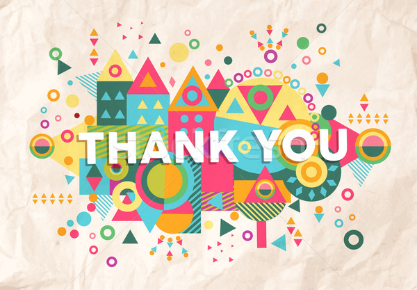 Thank you quote poster design background Stock photo © cienpies