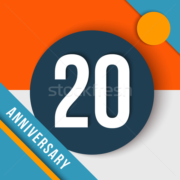 Stock photo: 20 year anniversary material design concept