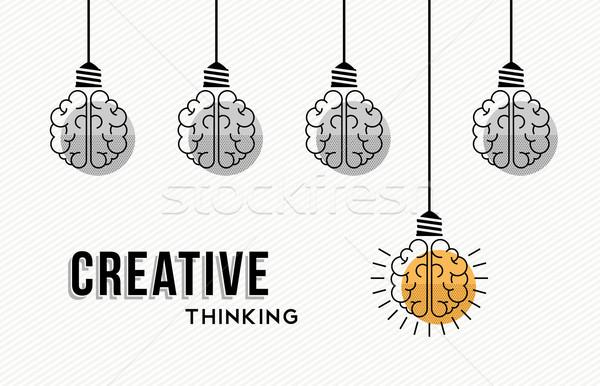 創造的思考 デザイン 人間 現代 黒白 カラフル ストックフォト © cienpies