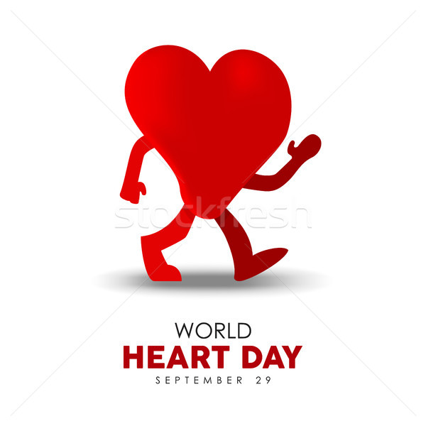 World Heart Day card for sport and health care Stock photo © cienpies