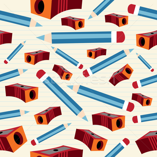 Stock photo: Pencil and sharpener pattern