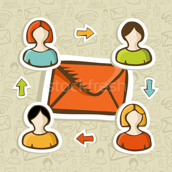 Email marketing campaign concept background Stock photo © cienpies
