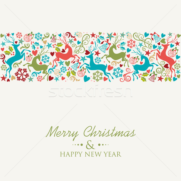 веселый Рождества с Новым годом eps10 вектора Сток-фото © cienpies
