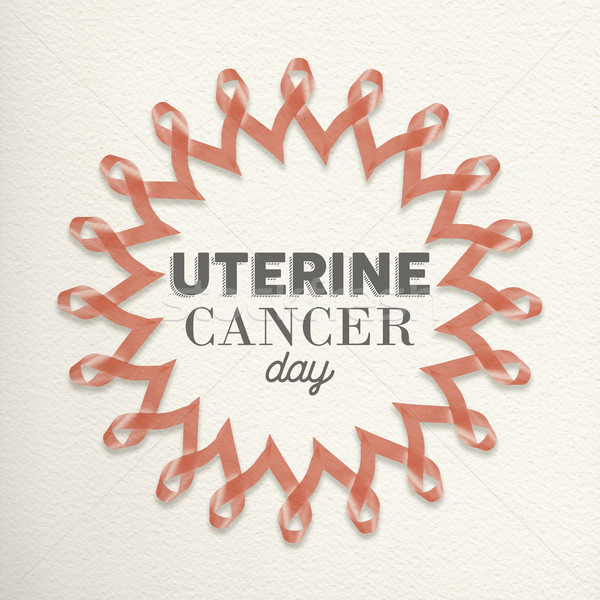 Uterine cancer day awareness design made of ribbon Stock photo © cienpies