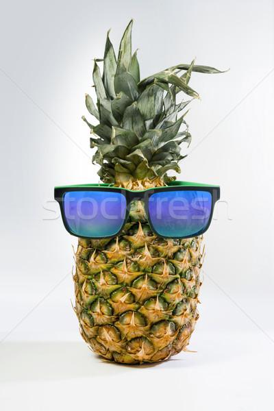 весело ананаса фрукты лет Солнцезащитные очки красочный Сток-фото © cienpies