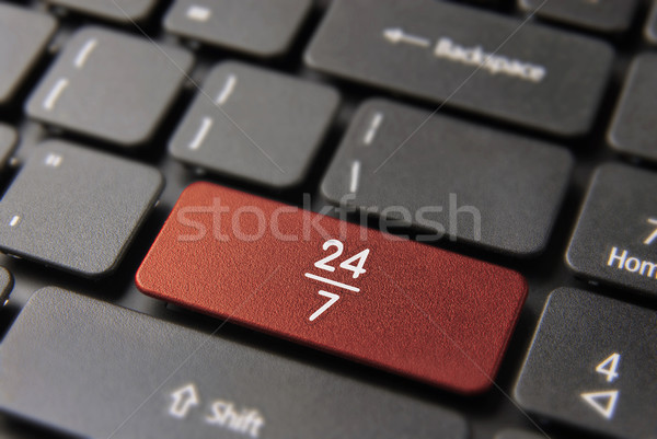 24/7 hour always open service computer keyboard Stock photo © cienpies