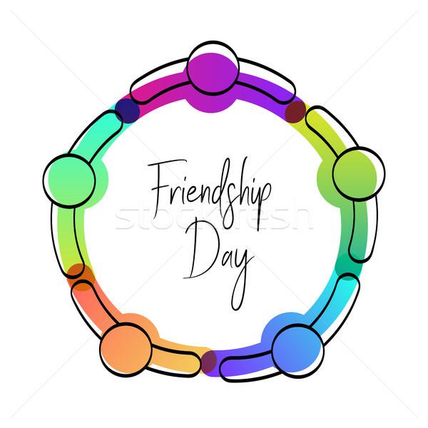 幸せ 友情 日 カード 友達 グループ ストックフォト © cienpies