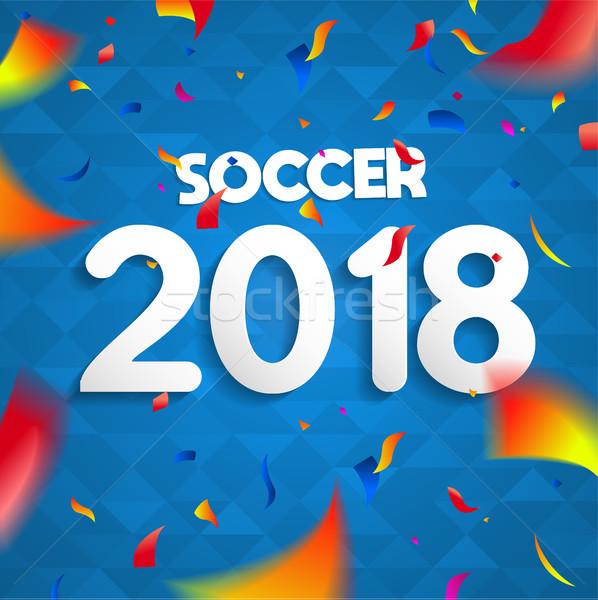 Fútbol campeonato juego celebración anunciante colorido Foto stock © cienpies