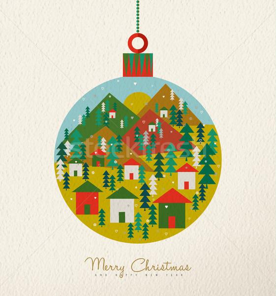 Сток-фото: Рождества · Vintage · карт · ретро · праздник · безделушка
