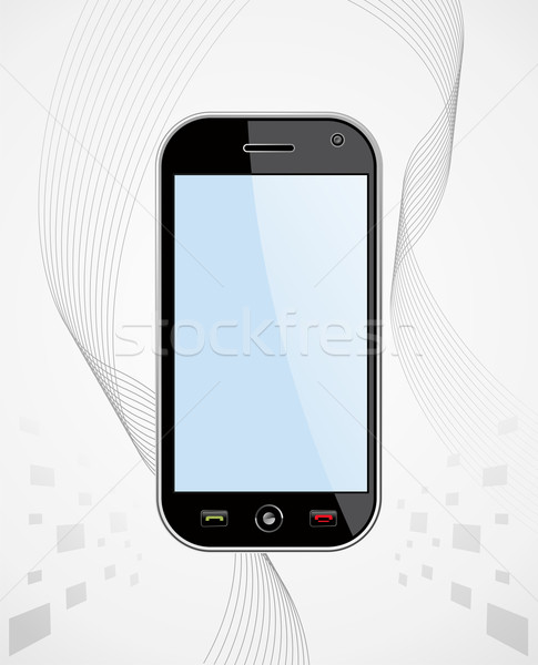 Generic Smart Phone brackground Stock photo © cienpies