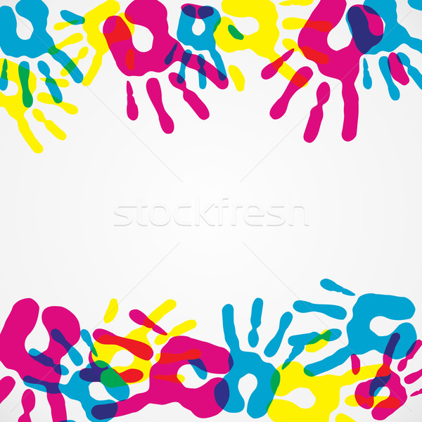 Multicolor diversity hands background Stock photo © cienpies