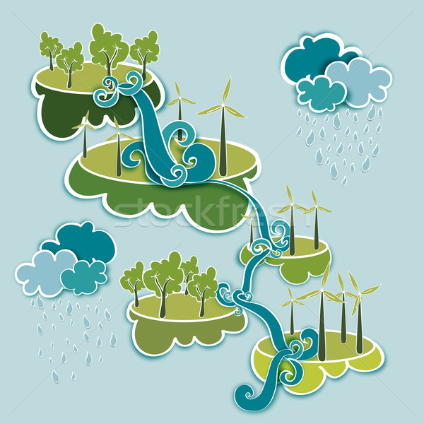 Go green energy concept Stock photo © cienpies