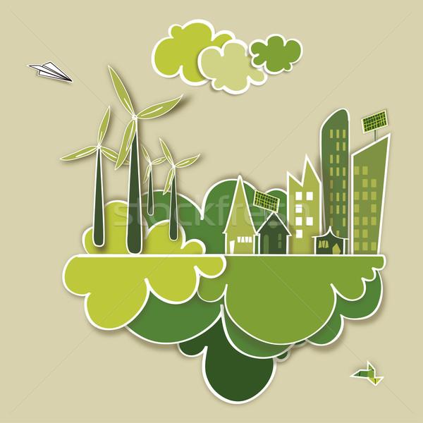 Go green concept city Stock photo © cienpies