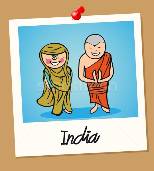 India viaje Polaroid personas indio hombre Foto stock © cienpies