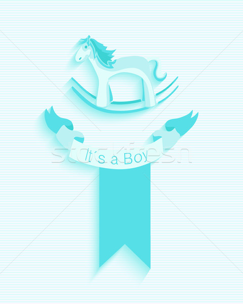 Baby shower boy invitation card design Stock photo © cienpies