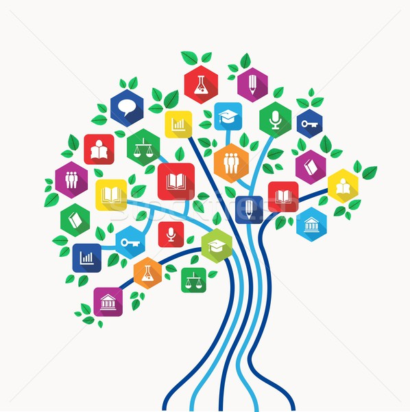 教育 技術 ツリー 新しい ストックフォト © cienpies