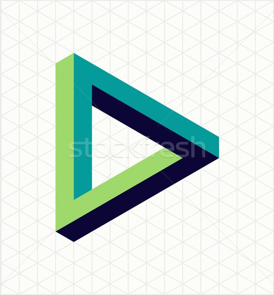 Abstract impossible triangle sign shape Stock photo © cienpies
