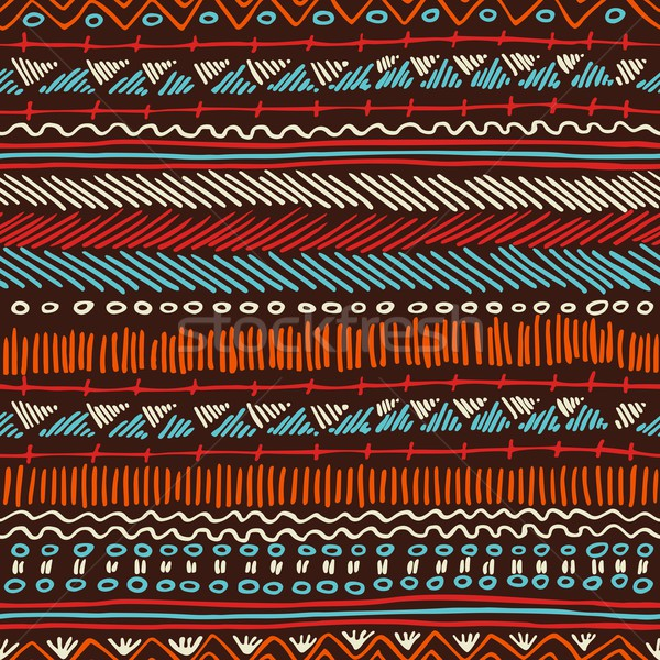 Boho seamless pattern tribal vintage background Stock photo © cienpies