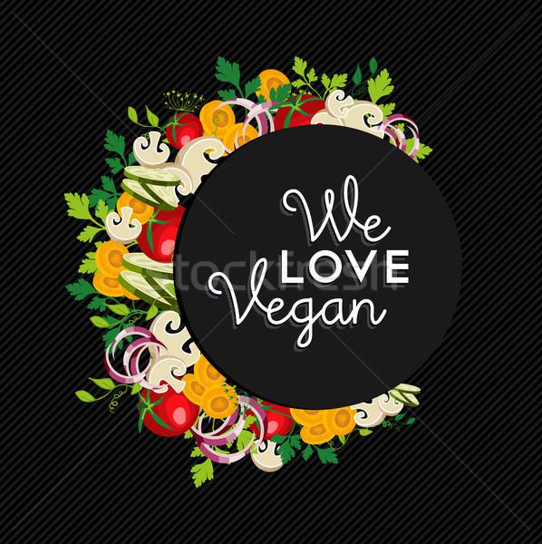Vegan comida ilustração projeto legumes amor Foto stock © cienpies