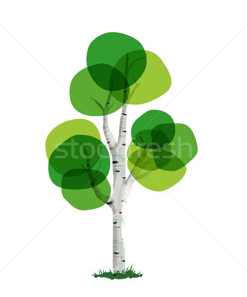 Green tree concept illustration hand drawn style Stock photo © cienpies