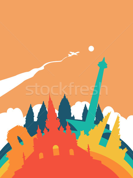 Stock photo: Travel Indonesia world landmark landscape