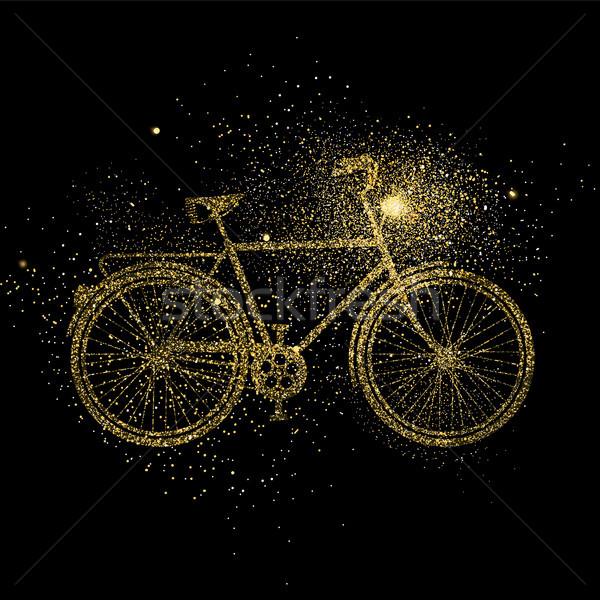 Vélo or glitter art symbole illustration Photo stock © cienpies