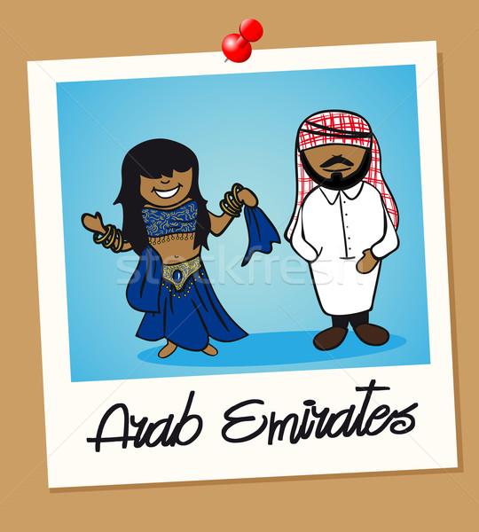 Emiratos Árabes Unidos viaje Polaroid personas árabe hombre Foto stock © cienpies