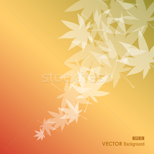 Abstract leaves composition. Fall season background. EPS10 file. Stock photo © cienpies