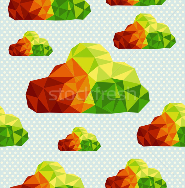 Stock fotó: Színes · mértani · felhők · végtelen · minta · eps10 · absztrakt