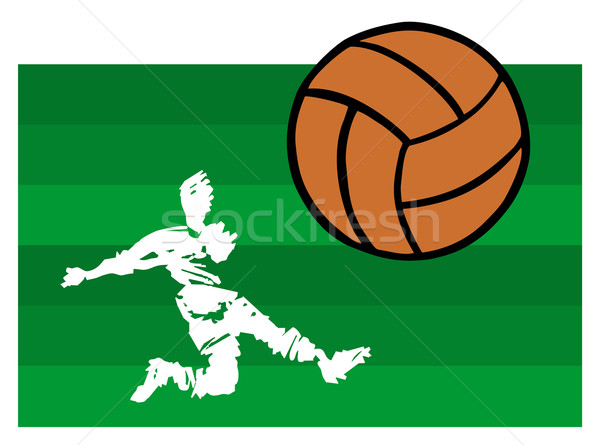 soccer players big shot Stock photo © cienpies