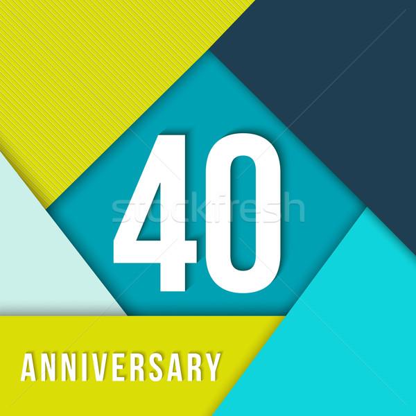 40 year anniversary material design template Stock photo © cienpies