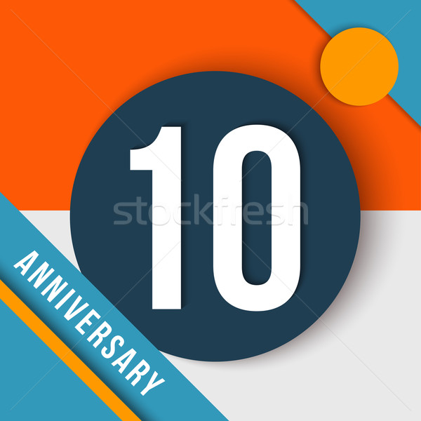 10 anno anniversario materiale design dieci Foto d'archivio © cienpies