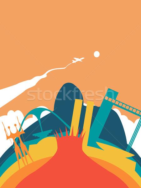 Travel Brazil world landmark landscape Stock photo © cienpies