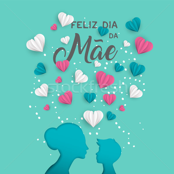 Mother day portuguese card for holiday love Stock photo © cienpies