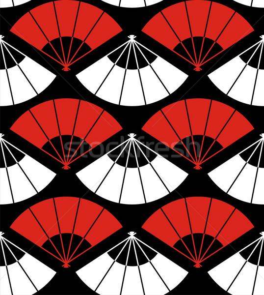 Japan fan abstract Rood witte zwarte Stockfoto © cienpies