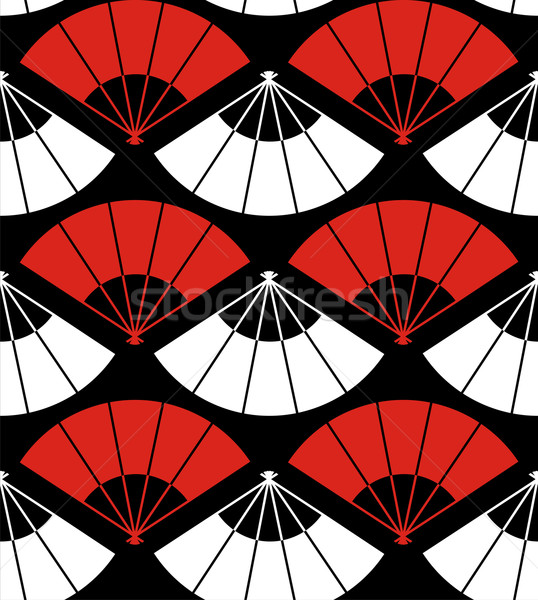 Giappone fan abstract rosso bianco nero Foto d'archivio © cienpies