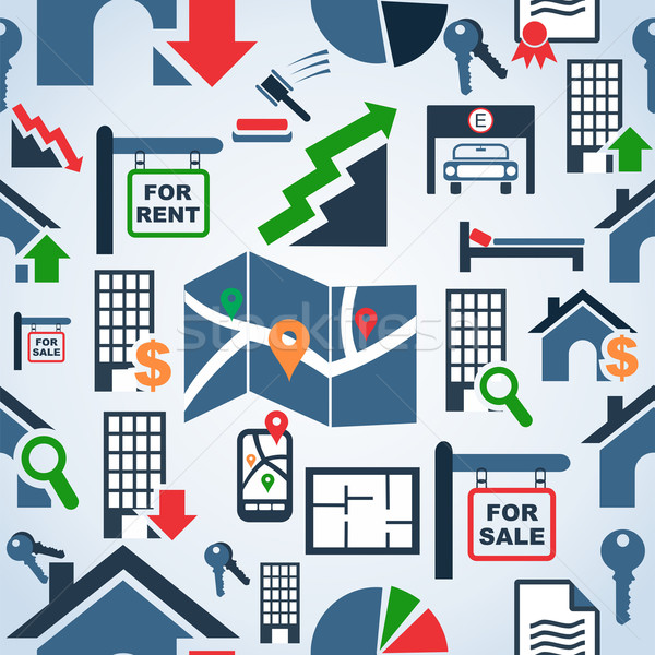 Property services market pattern Stock photo © cienpies