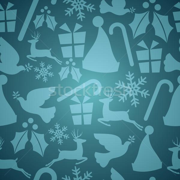 青 クリスマス 要素 レイヤード 簡単 ストックフォト © cienpies