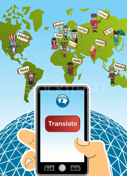 Global translation app concept Stock photo © cienpies