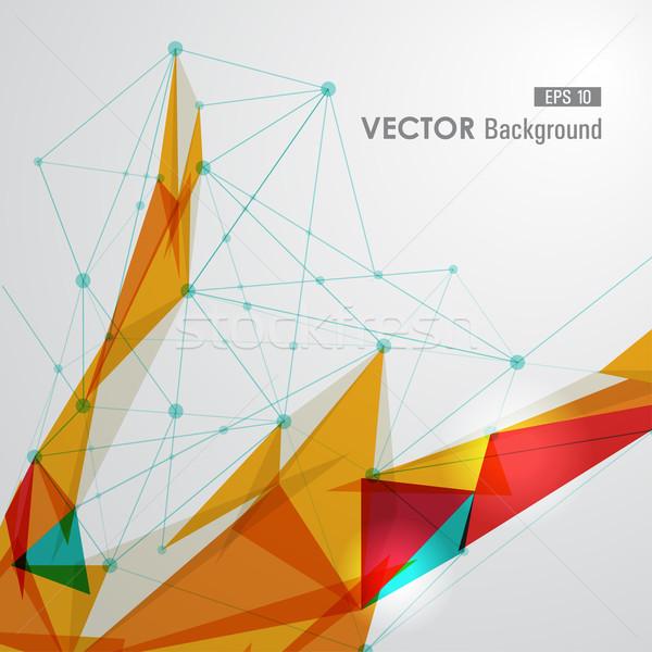 Kleurrijk web meetkundig doorzichtigheid moderne netwerk Stockfoto © cienpies