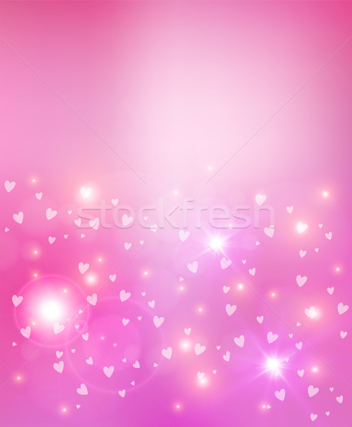 Valentines day heart abstract background Stock photo © cienpies