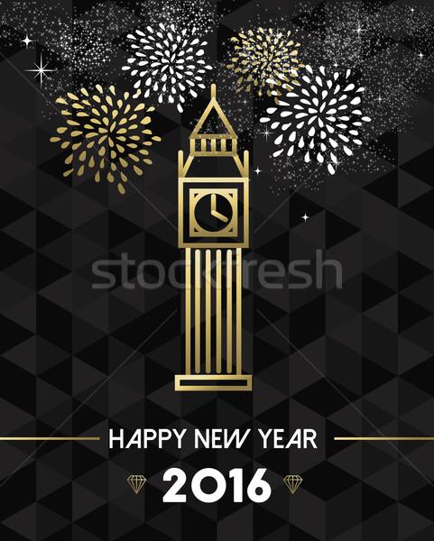 New Year 2016 london uk europe travel gold  Stock photo © cienpies