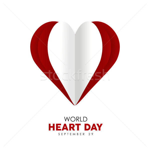 World Heart Day cutout design for health care  Stock photo © cienpies