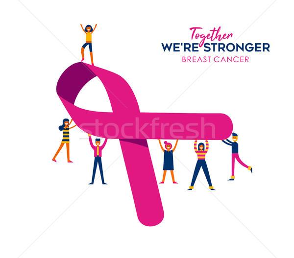Cáncer de mama atención social caridad ayudar conciencia Foto stock © cienpies