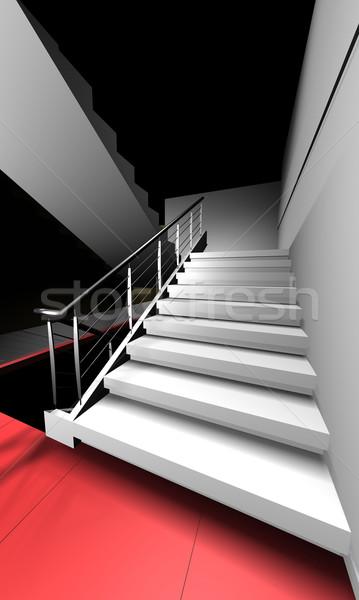3d render stairway Stock photo © cienpies
