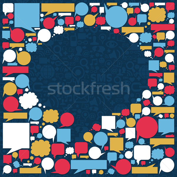 Parlare bolla texture icone Foto d'archivio © cienpies