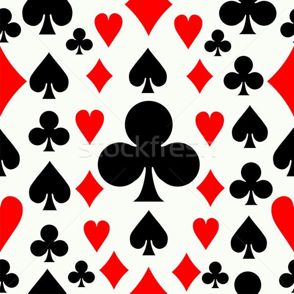 Seamless poker pattern background Stock photo © cienpies